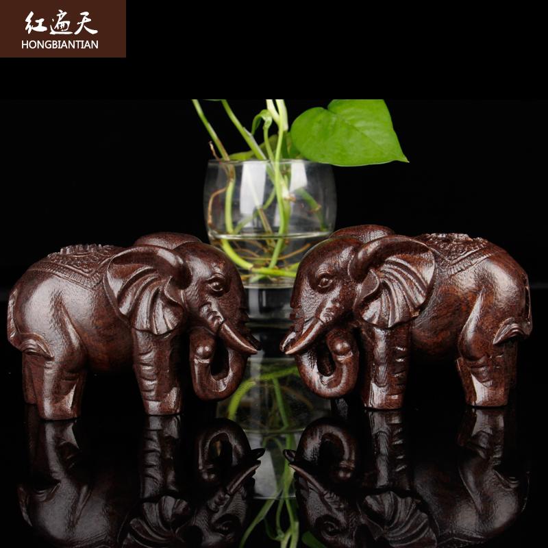 实木雕大象花梨木质木象
