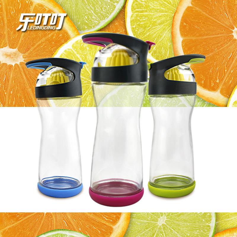 乐叮叮 新款美国玻璃柠檬杯玻璃杯创意随手杯榨汁杯果汁杯包邮