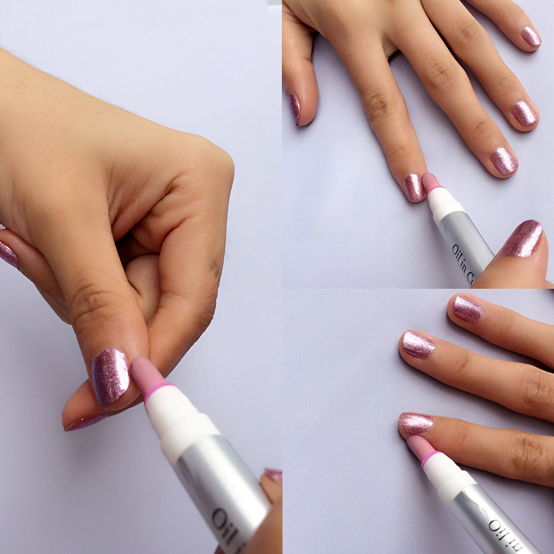 日本正品Lucky去甘皮美甲笔去死皮指甲护理工具指缘橄榄油滋润