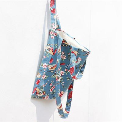 [圣诞惊喜] 2015秋日系原创森女单肩布包手提包文艺清新棉麻帆布环保购物袋女