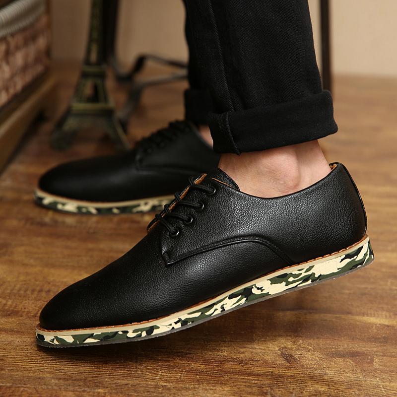 2014秋季韩版休闲鞋男鞋子潮流板鞋林弯弯潮鞋内增高鞋黑色小皮鞋
