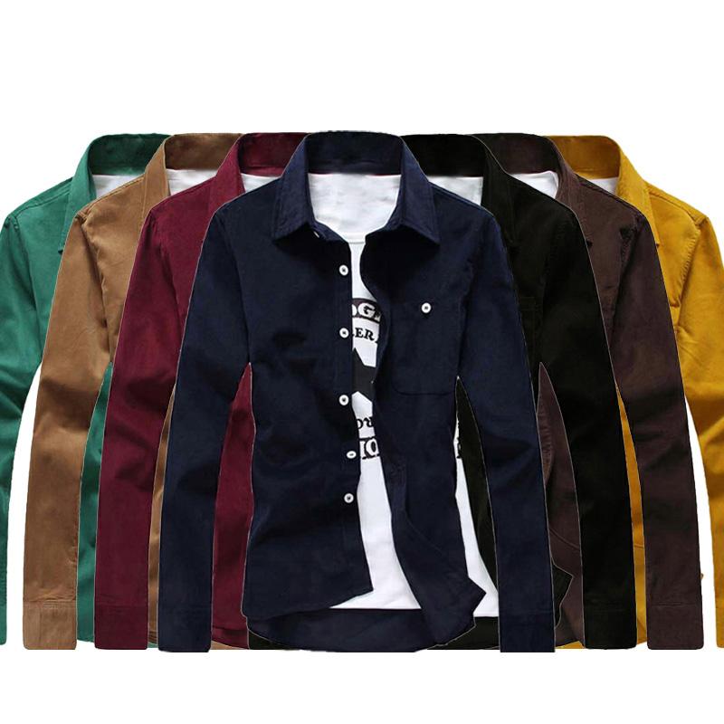 长袖衬衫男春装新款长袖衬衣休闲男装衬衣潮男韩版修身大码男小衫