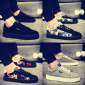 春季帆布鞋男鞋子韩版潮流运动板鞋百搭学生个性布鞋低帮休闲潮鞋