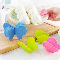 创意蝴蝶厨房隔热防烫取碗夹 微波炉烤箱耐高温取盘夹 防滑护手器