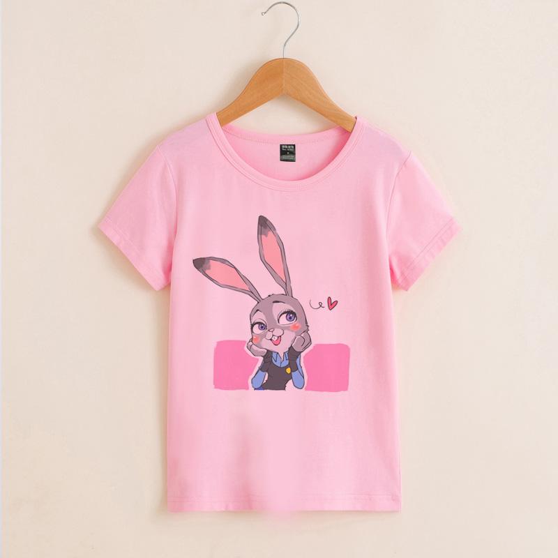兔子朱迪潮流可爱t恤纯棉夏季卡通动漫疯狂动物城女童打底短袖衫t