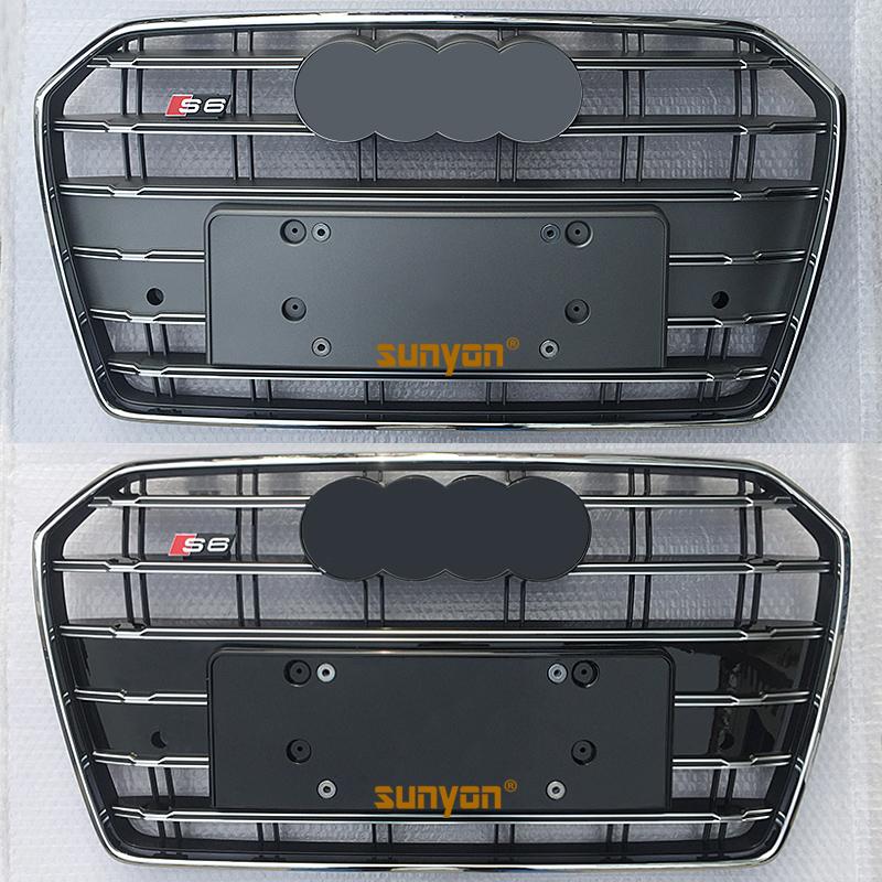 08-18奥迪S6中网A6L专用改装S6中网格栅改装C6C7C7.5前脸中网