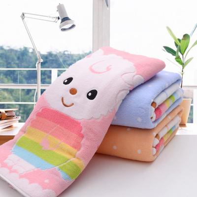 儿童毛巾被纯棉柔软吸水幼儿园夏季午睡小被子婴儿宝宝浴巾毛巾毯