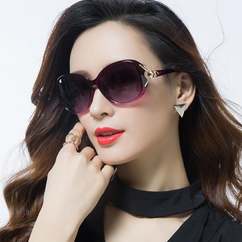 2017新款时尚偏光太阳镜圆脸明星款墨镜女潮近视眼镜长脸眼睛大脸