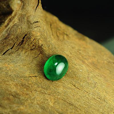 【珀丽宝石】赞比亚天然祖母绿戒面裸石大颗粒椭圆蛋面正浓绿配证