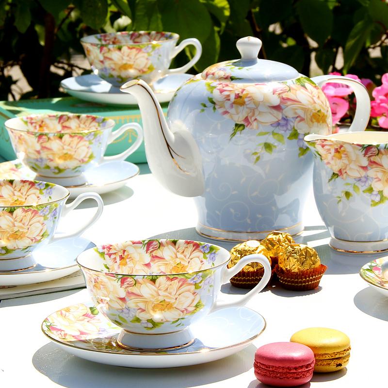 欧式茶具咖啡具骨瓷英式下午茶茶具红茶杯碟陶瓷茶壶