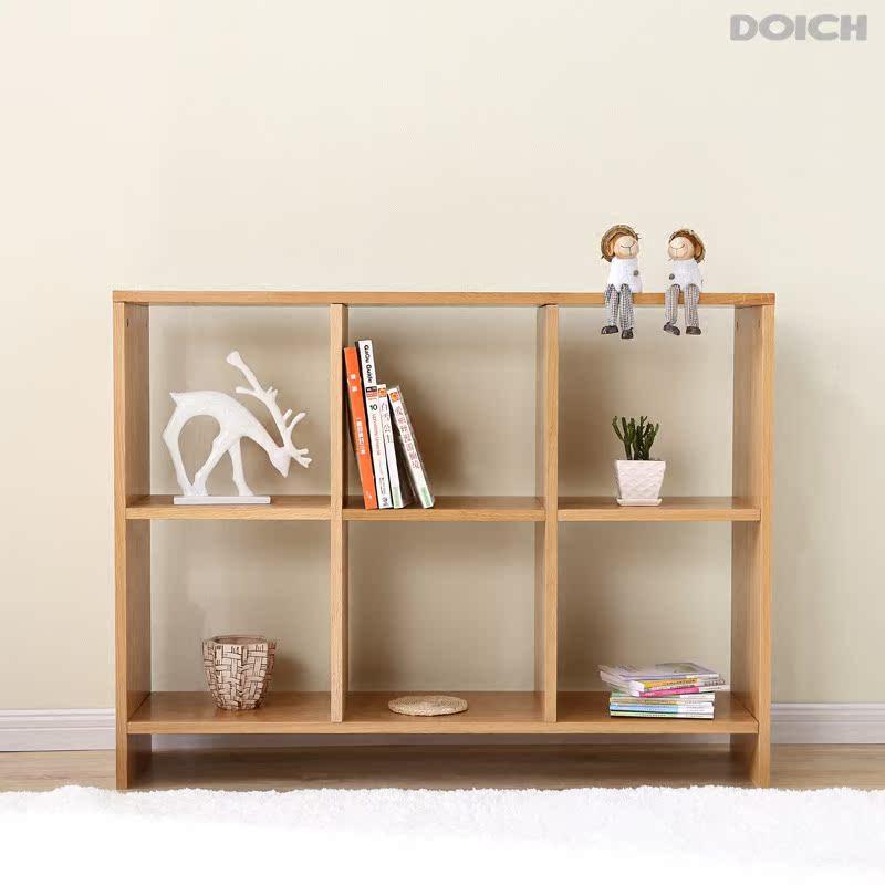 实木日式书架北欧现代风格简约置物架橡木隔断小户型