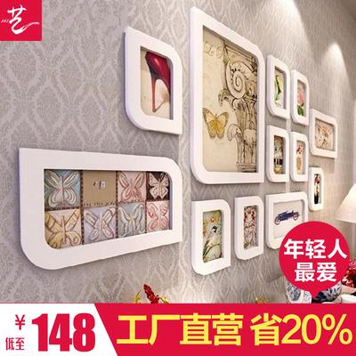 客厅照片墙结婚照挂墙相框墙创意组合餐厅婚纱照欧式
