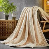 【38女人节买就送】卡佩利丝 复合毛毯 加厚毛巾被 毛毯 单双人