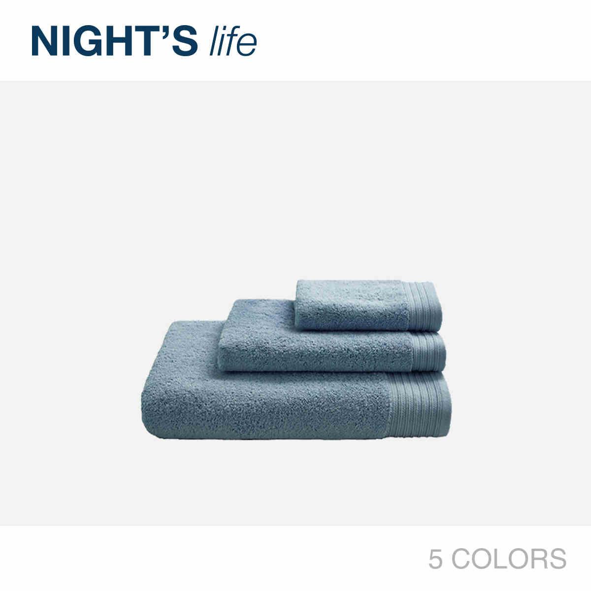 NIGHT'S夜家居海棉优选家纺毛巾三件套浴巾套装方巾3件套柔软套件