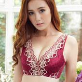 雪妮芳专柜无钢圈文胸调整型内衣性感蕾丝聚拢夏季舒适小胸女胸罩