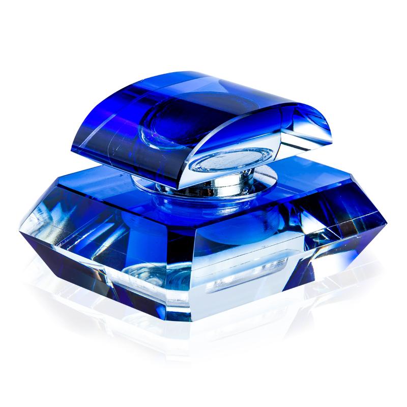 汽车香水座摆件 车载香水车用车内香水空气清香剂 水晶座式香水