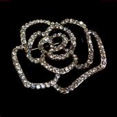 颈袖添香女式新款 玫瑰胸花 饰品 连衣裙配饰 时尚 精致 水晶胸针