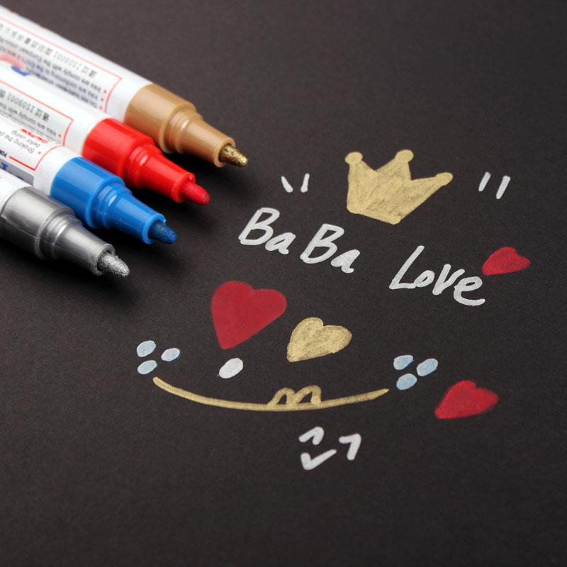 恋纸集 diy相册影集配件材料工具 黑卡必备涂鸦笔 超群油漆笔