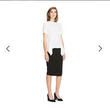 一步裙开叉半身裙 简约包臀修身 品牌CR原单纯色OL风格 欧美澳洲大码