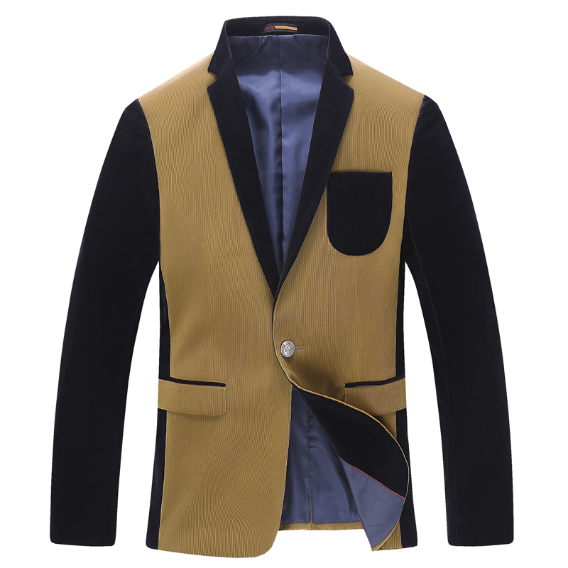 2014秋冬新款西服 美式休闲男士西装 灯芯绒修身男装外套 潮