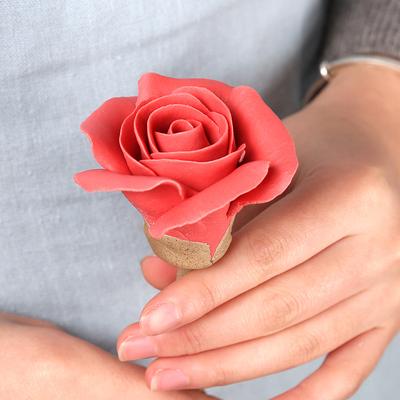 【情人节专属】七夕情人节礼物手工陶瓷玫瑰花创意生日结婚礼物