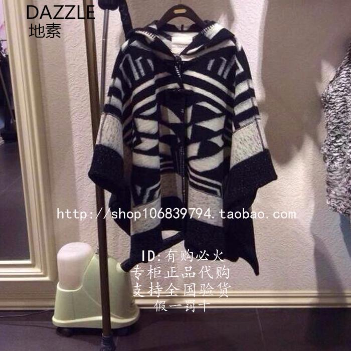 明星同款DAZZLE地素专柜正品代购2014年秋冬款毛呢大衣244G416