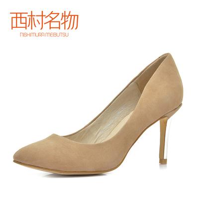【降价】西村名物正装女单鞋低帮鞋浅口羊皮春秋款T241E11321
