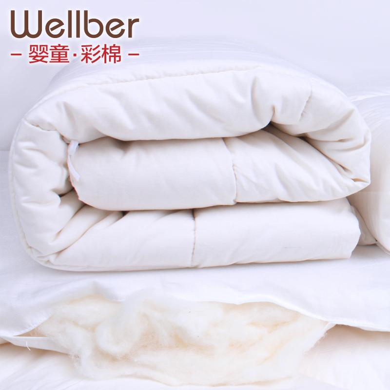 威尔贝鲁 婴儿全棉花被子被芯 新生儿宝宝棉被 被子芯 秋冬 加厚