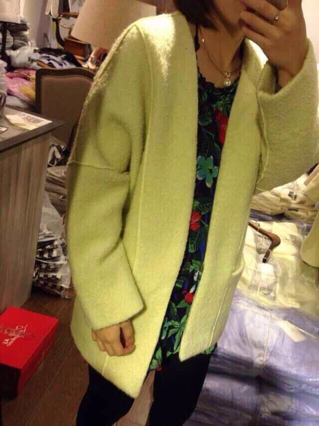 秋季新款毛呢外套休闲宽松外套女装上衣羊毛外套简约韩版小风衣