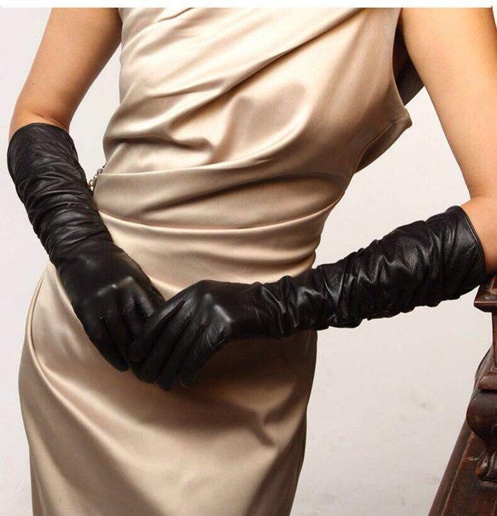 韩版新品真皮长手套 高品质进口牛皮手臂套 优雅女神配饰