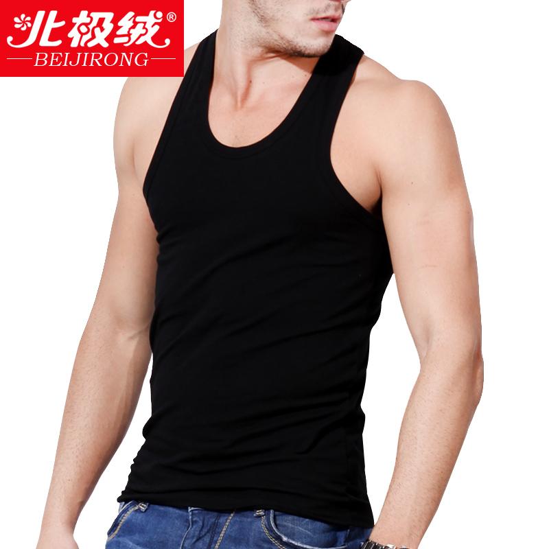 包邮北极绒男士背心棉质打底螺纹男修身运动健身紧身马甲汗衫夏季