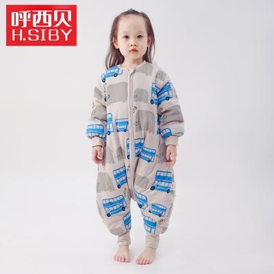 呼西贝大象夹棉睡袋 大空间孩子防踢被 宝宝冬款连体睡衣睡服