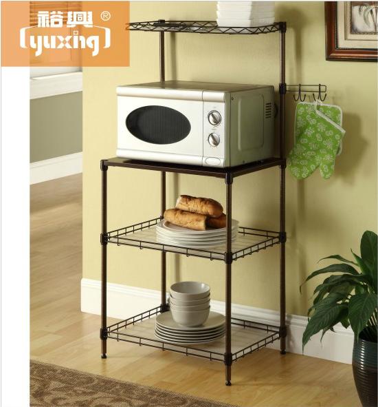 厨房微波炉架收纳架置物架金属烤漆不生锈电器架豆浆机锅架特价