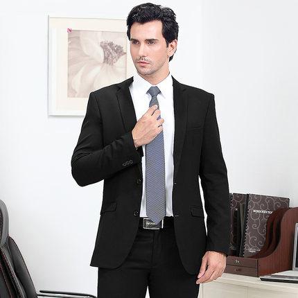 高端夏季职业装修身男装商务绅士西服正装两粒扣伴郎男士上班西装