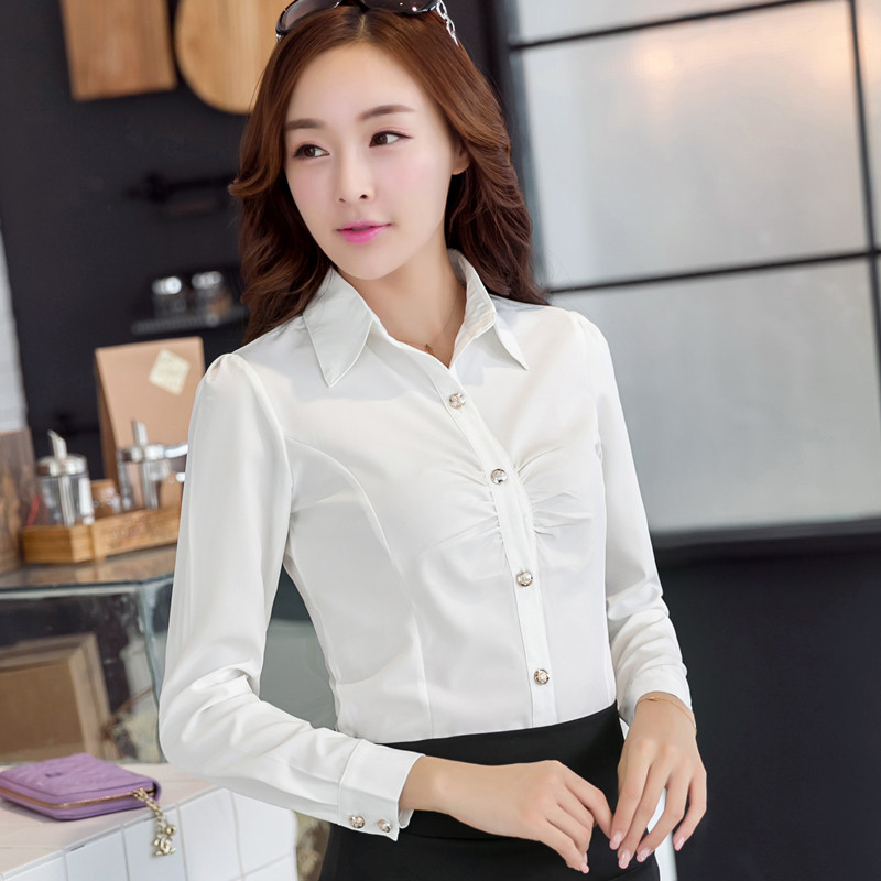 拉夏贝尔2014淑女坊韩版朵以修身女长袖显瘦百搭职业装衬衫打底衫