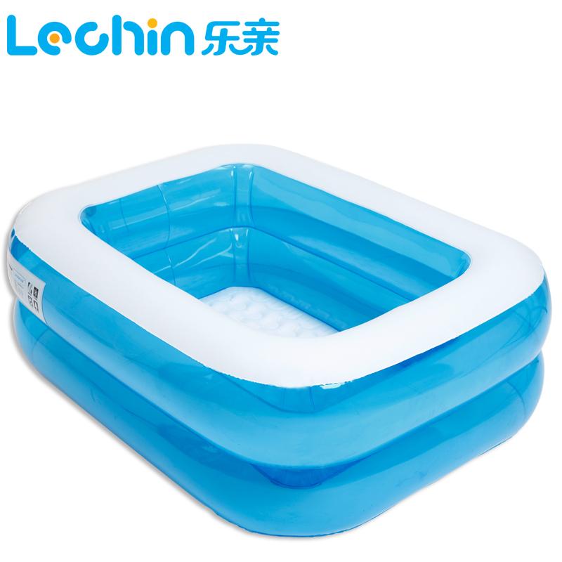 乐亲新款 充气加厚保温婴儿游泳池 婴幼儿戏水池 小号宝宝游泳池