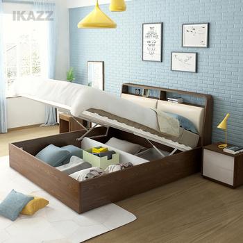 北欧现代简约板式床1.8米双人床