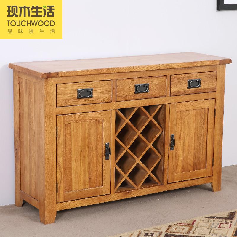 欧式实木客厅玄关柜门厅隔断装饰柜多用途酒柜 实木 现代餐边柜