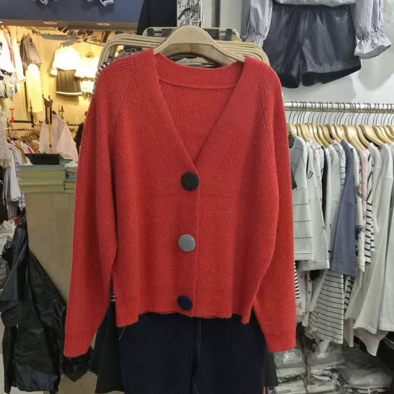 欧洲站2017秋装新款针织开衫女外套短款 修身羊毛小外套毛衣毛衫