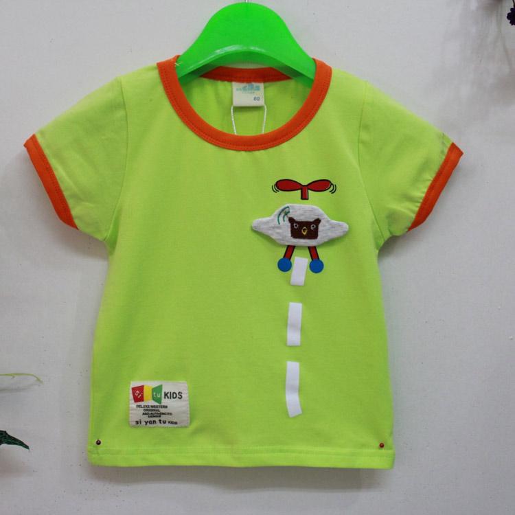 2014新款夏季男童童装 中小童纯棉短袖T恤 4211乐果果