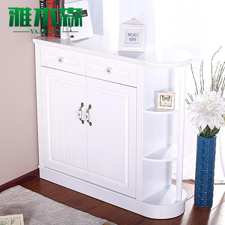 欧式双面鞋柜玄关门厅柜客厅时尚现代简约白色烤漆柱