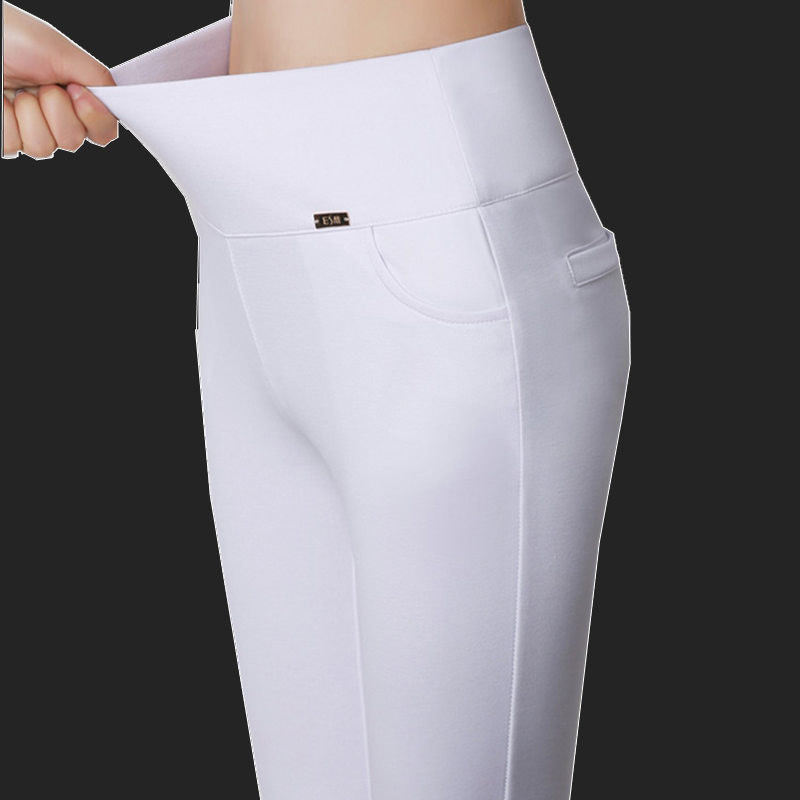 高腰MM弹力夏季小脚女裤底裤外穿女薄款