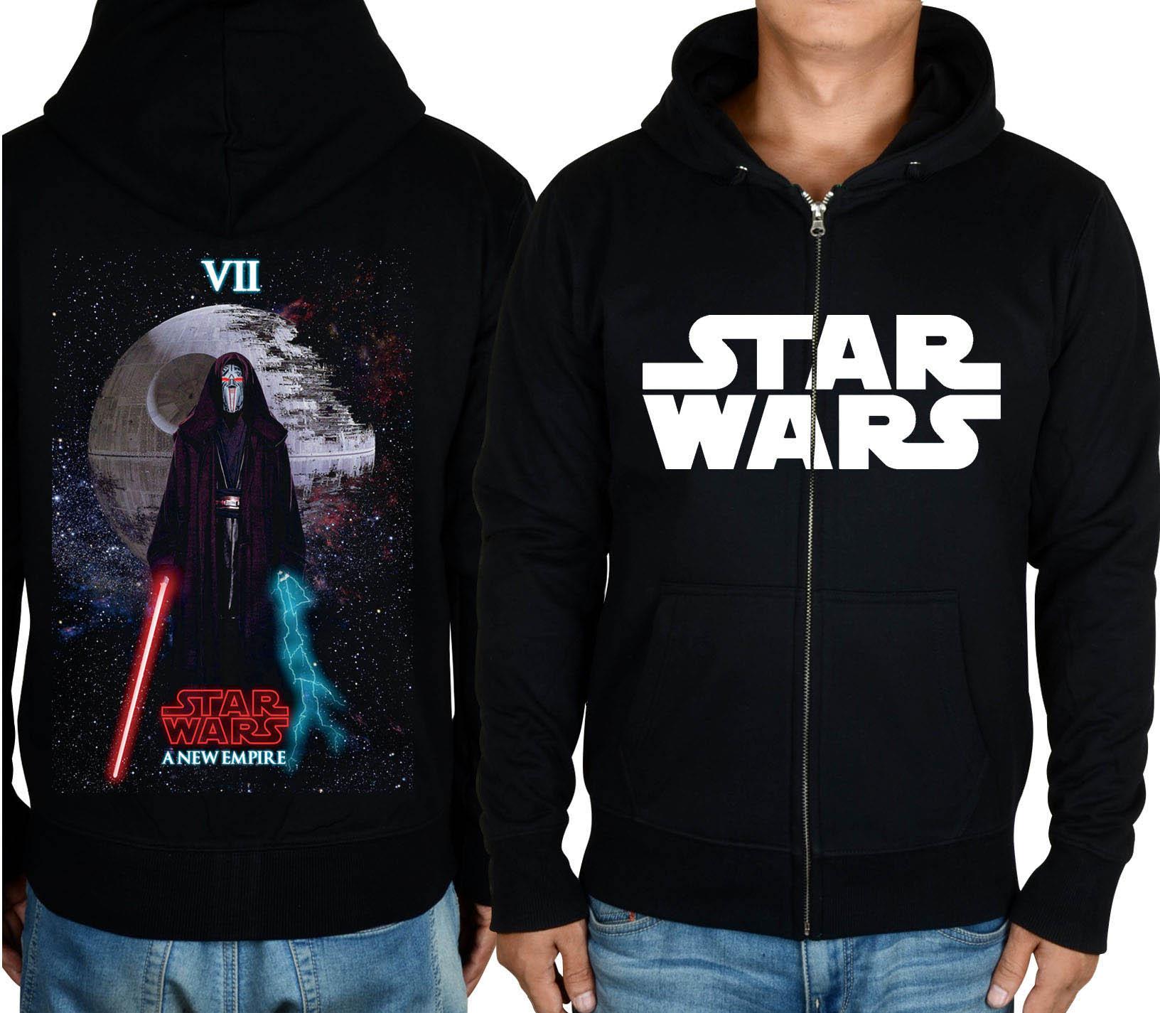 星球大战Star Wars 7原力觉醒达斯摩尔光剑拉链休闲加绒套头卫衣