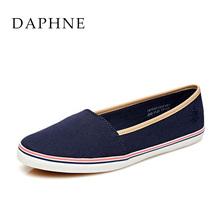 1515101034 低跟平底套脚拼色休闲布鞋 达芙妮春季女鞋 Daphne