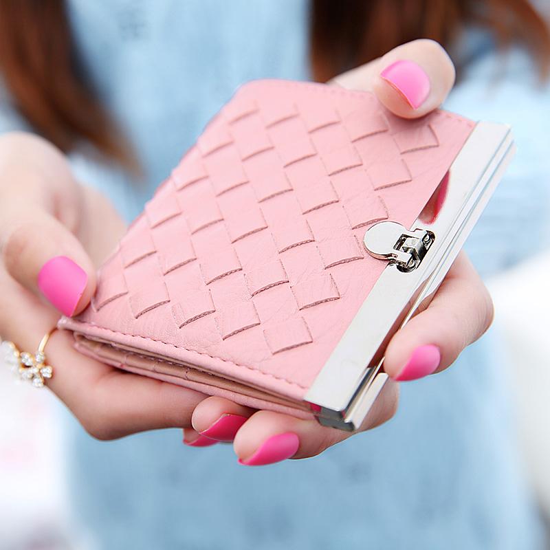 2015新款时尚学生日韩版零钱包女短款女士钱包简约钱夹可爱小钱包