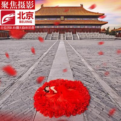 北京聚焦婚纱摄影工作室大理青岛花海街景胡同旅拍蜜月团购婚纱照