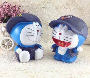 包邮卡通存钱罐 哆啦A梦 叮当猫 机器猫 创意家居摆件 树脂工艺品