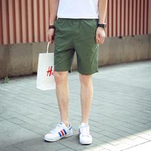 夏季纯棉五分裤男士薄款5分裤男短裤修身沙滩裤男青少年休闲中裤