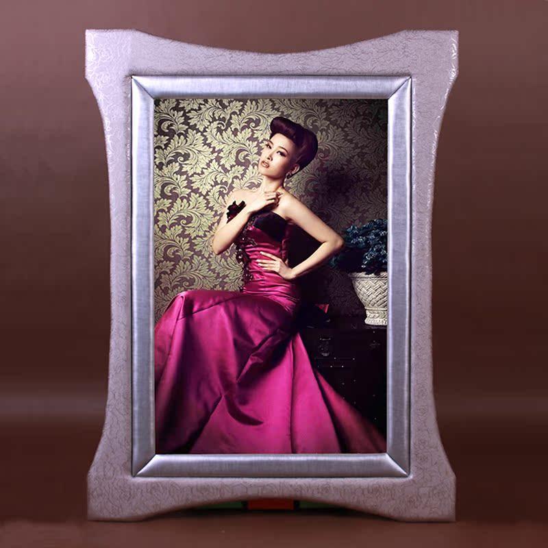 欧式简约风格挂墙影楼婚纱相框新款豪华高档皮质相框拼图画框包邮