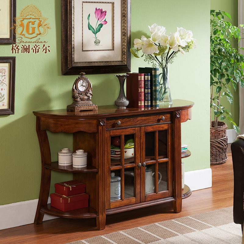 格澜帝尔 美式实木卧室电视柜 欧式房间小电视柜 玄关餐边柜